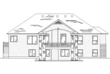 Home Plan - Ranch Exterior - Rear Elevation Plan #5-236