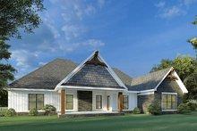 House Plan Design - Craftsman Exterior - Rear Elevation Plan #923-192