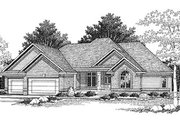 Traditional Style House Plan - 4 Beds 2.5 Baths 2570 Sq/Ft Plan #70-411 Exterior - Front Elevation