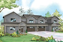 Country Exterior - Front Elevation Plan #124-1078