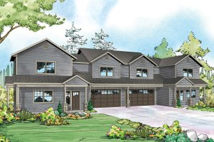 House Plan Design - Country Exterior - Front Elevation Plan #124-1078