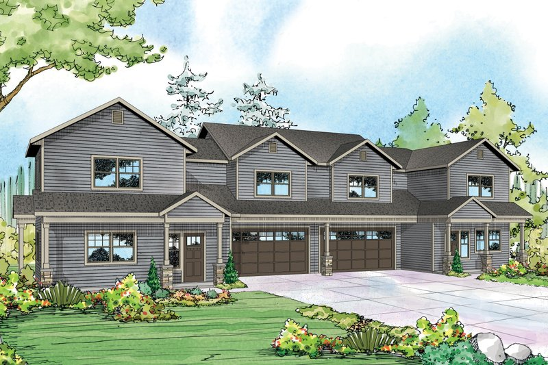 Country Style House Plan - 6 Beds 6 Baths 3114 Sq/Ft Plan #124-1078 Exterior - Front Elevation