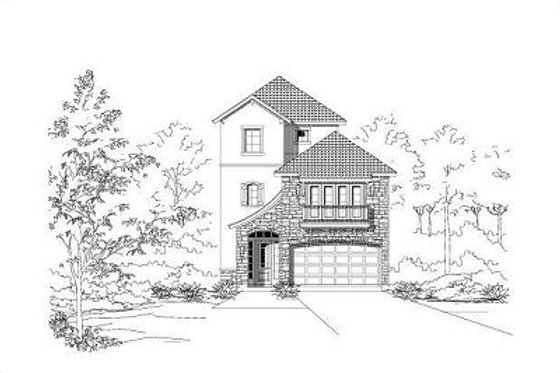 European Exterior - Front Elevation Plan #411-650