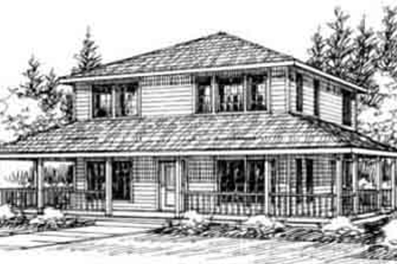 Traditional Exterior - Front Elevation Plan #117-196 - Houseplans.com