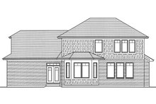Architectural House Design - Craftsman Exterior - Rear Elevation Plan #46-835
