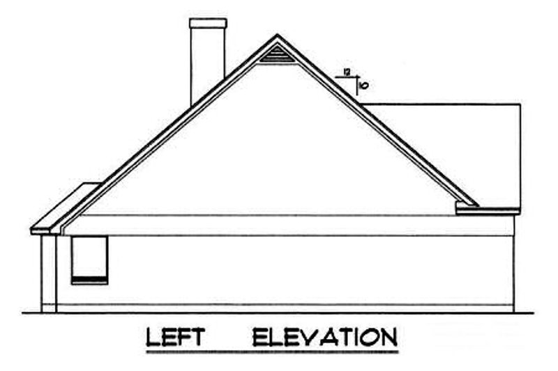Traditional Exterior - Other Elevation Plan #40-236 - Houseplans.com