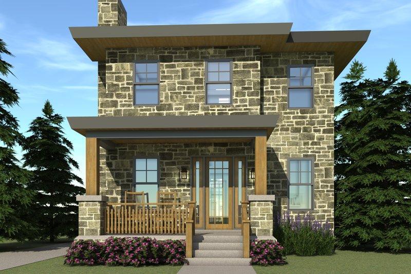 Modern Exterior - Front Elevation Plan #64-194 - Houseplans.com