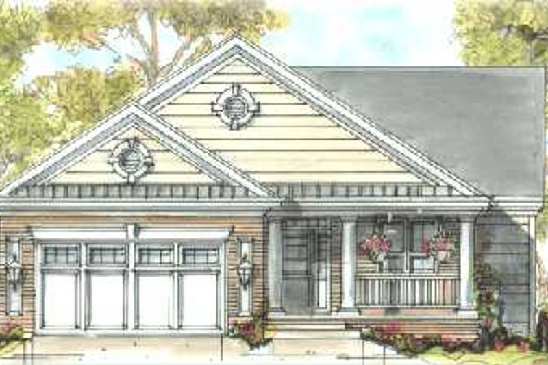 Architectural House Design - Traditional Exterior - Front Elevation Plan #20-1384