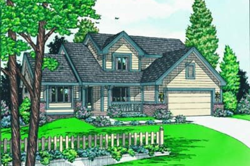 Traditional Exterior - Front Elevation Plan #20-799 - Houseplans.com