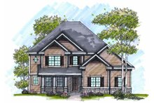 Craftsman Exterior - Front Elevation Plan #70-990
