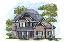 Dream House Plan - Craftsman Exterior - Front Elevation Plan #70-990