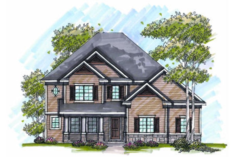 Craftsman Exterior - Front Elevation Plan #70-990