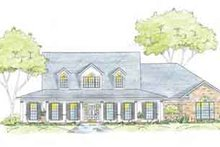 Southern Exterior - Front Elevation Plan #36-448
