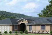 Adobe / Southwestern Style House Plan - 4 Beds 3 Baths 2075 Sq/Ft Plan #1-998 Exterior - Front Elevation