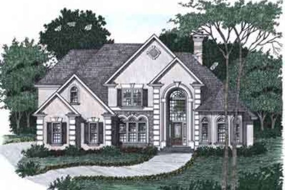 European Exterior - Front Elevation Plan #129-161