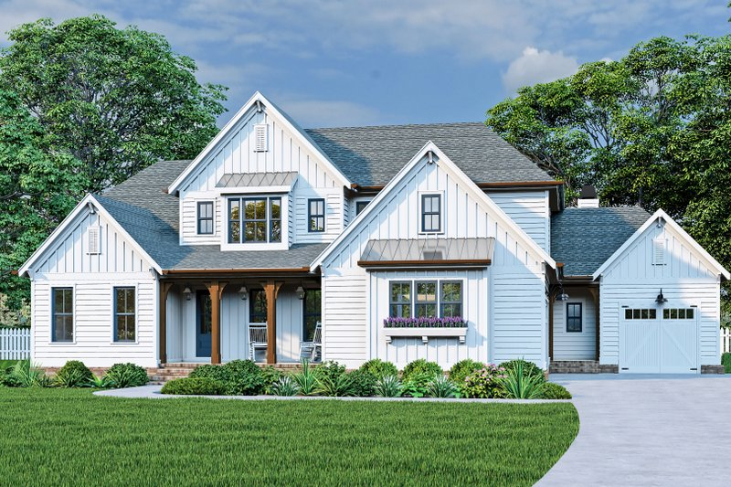 House Plan Design - Farmhouse Exterior - Front Elevation Plan #927-1025