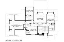 Traditional Floor Plan - Upper Floor Plan Plan #413-886