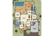 Beach Style House Plan - 3 Beds 4.5 Baths 3140 Sq/Ft Plan #548-13 Floor Plan - Main Floor Plan