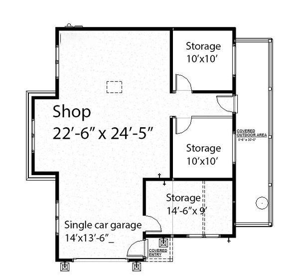 Ranch Floor Plan - Main Floor Plan #895-128