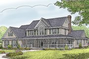 Country Style House Plan - 5 Beds 2.5 Baths 2599 Sq/Ft Plan #11-231 Exterior - Front Elevation