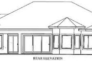 Mediterranean Style House Plan - 3 Beds 2 Baths 2540 Sq/Ft Plan #115-115 Exterior - Rear Elevation