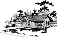 Home Plan - Contemporary Exterior - Front Elevation Plan #124-145
