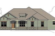 Traditional Style House Plan - 3 Beds 2 Baths 2000 Sq/Ft Plan #459-2 Exterior - Front Elevation