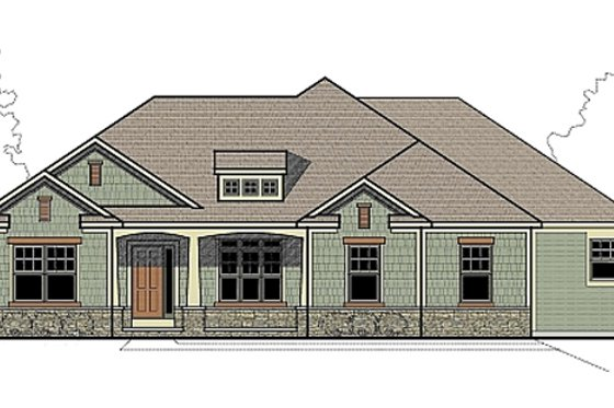 Traditional Exterior - Front Elevation Plan #459-2