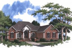 Home Plan Design - Traditional Exterior - Front Elevation Plan #37-101