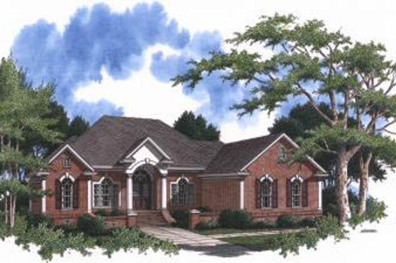 Traditional Style House Plan - 3 Beds 2.5 Baths 2240 Sq/Ft Plan #37-101 Exterior - Front Elevation
