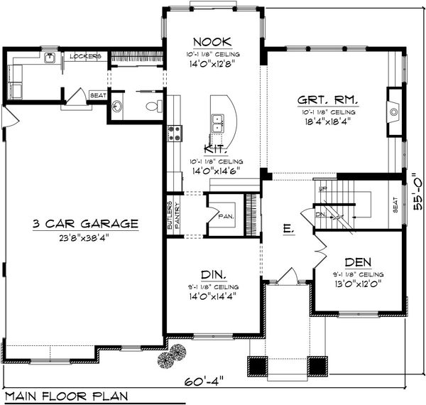 Traditional Floor Plan - Main Floor Plan Plan #70-1089
