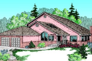 Traditional Exterior - Front Elevation Plan #60-183