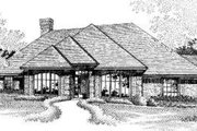 European Style House Plan - 4 Beds 2.5 Baths 2353 Sq/Ft Plan #310-192 Exterior - Front Elevation