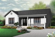 Ranch Style House Plan - 2 Beds 1 Baths 1103 Sq/Ft Plan #23-2662