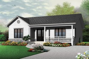 Ranch Exterior - Front Elevation Plan #23-2662