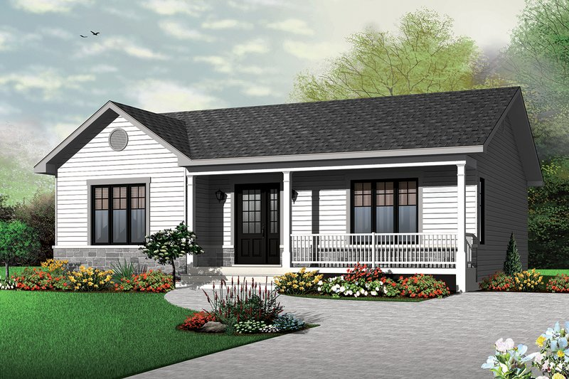 House Plan Design - Ranch Exterior - Front Elevation Plan #23-2662
