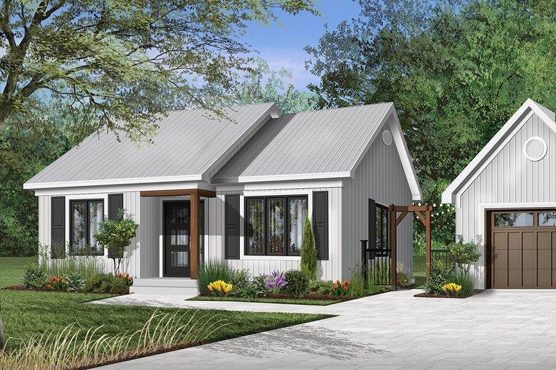 Cottage Exterior - Front Elevation Plan #23-116
