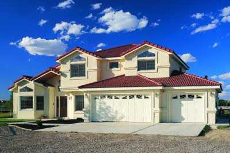 House Blueprint - Mediterranean Exterior - Front Elevation Plan #72-163