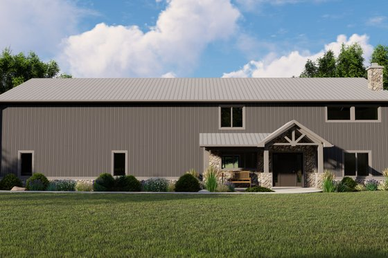 Farmhouse Exterior - Front Elevation Plan #1064-100