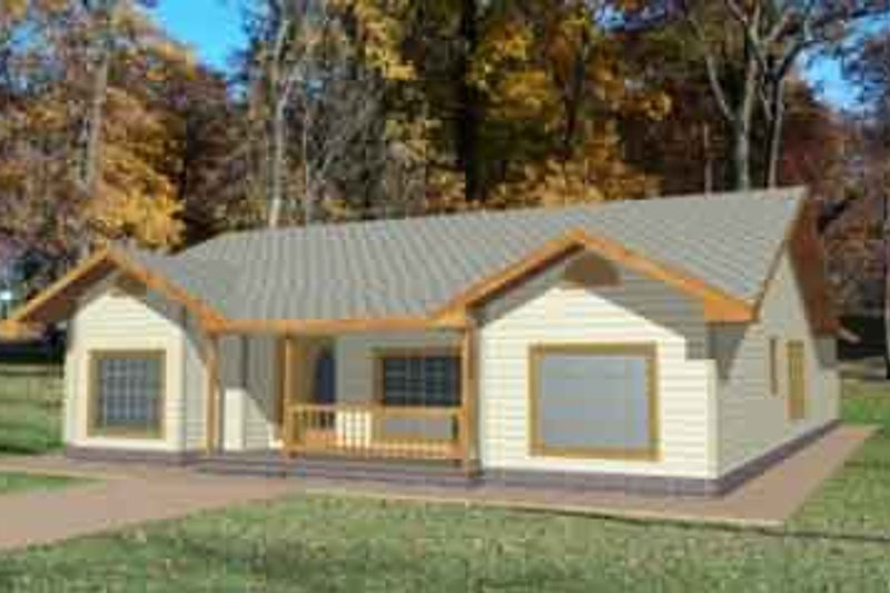 Traditional Exterior - Front Elevation Plan #117-211 - Houseplans.com