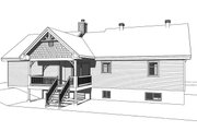Ranch Style House Plan - 2 Beds 1 Baths 1240 Sq/Ft Plan #23-2665 Exterior - Rear Elevation