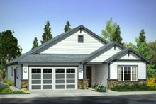 Dream House Plan - Traditional Exterior - Front Elevation Plan #124-1007