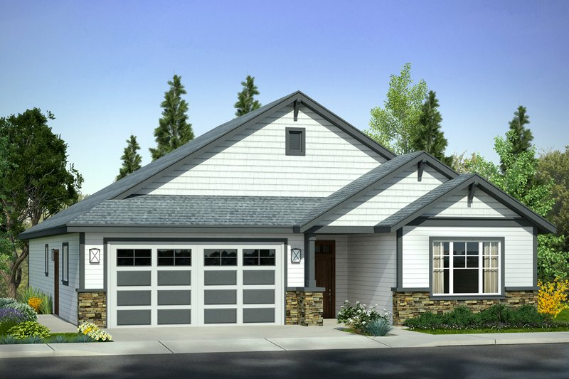 Architectural House Design - Traditional Exterior - Front Elevation Plan #124-1007