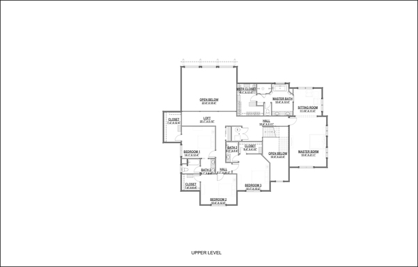 Craftsman Floor Plan - Upper Floor Plan Plan #1069-13