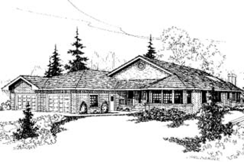 Traditional Exterior - Front Elevation Plan #60-156