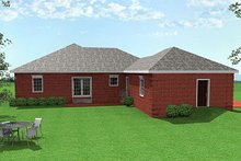Southern Exterior - Rear Elevation Plan #44-152