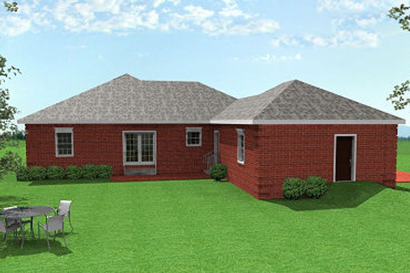 Southern Exterior - Rear Elevation Plan #44-152 - Houseplans.com