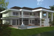 Modern Style House Plan - 4 Beds 4.5 Baths 5555 Sq/Ft Plan #420-172 Exterior - Rear Elevation