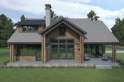 Craftsman Style House Plan - 3 Beds 2.5 Baths 2476 Sq/Ft Plan #1070-105 Exterior - Rear Elevation