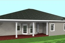 Southern Exterior - Rear Elevation Plan #44-133